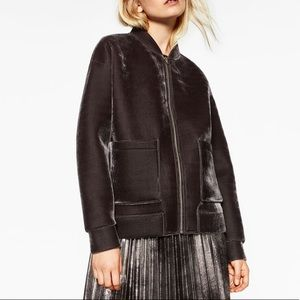 ZARA Oversized Velvet Blazer